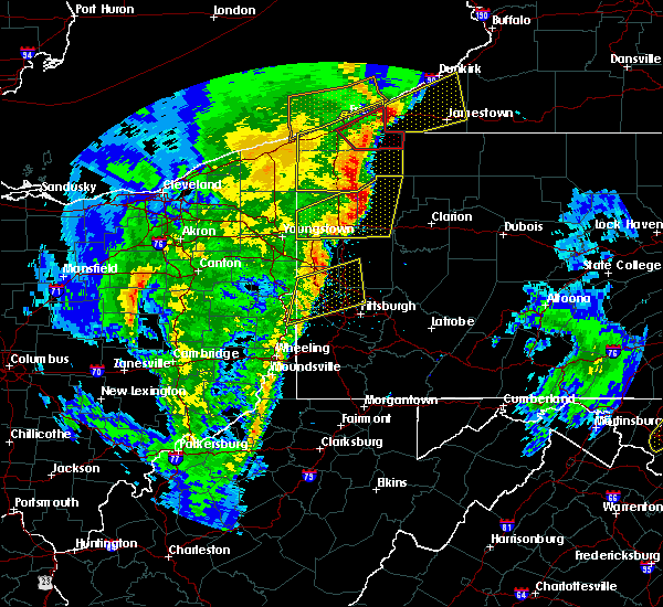 Radar Image for Severe Thunderstorms near Utica, PA at 4/14/2019 7:38 PM EDT