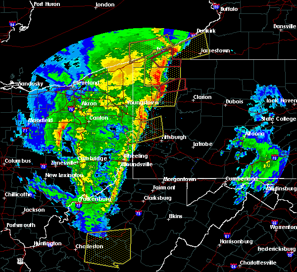 Radar Image for Severe Thunderstorms near Utica, PA at 4/14/2019 7:41 PM EDT
