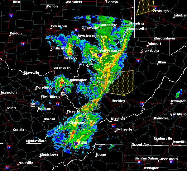Radar Image for Severe Thunderstorms near Red Jacket, WV at 4/14/2019 7:42 PM EDT