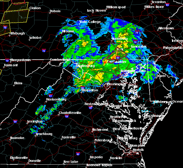 Radar Image for Severe Thunderstorms near Manchester, MD at 4/14/2019 7:51 PM EDT