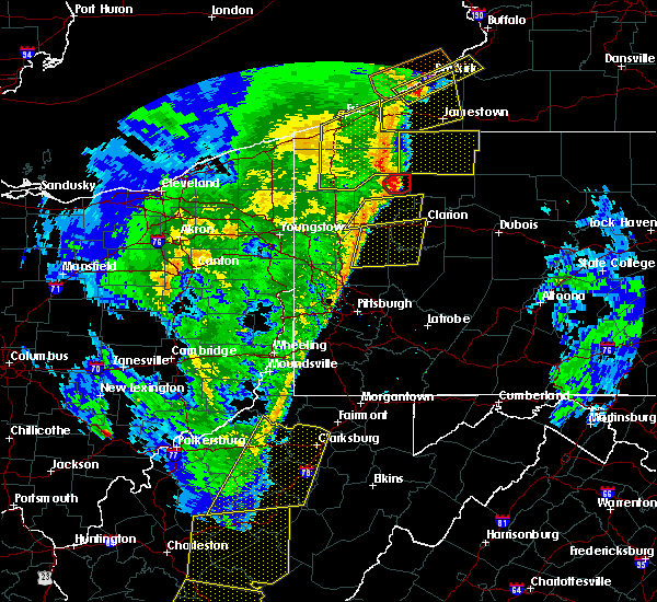 Radar Image for Severe Thunderstorms near Titusville, PA at 4/14/2019 7:57 PM EDT
