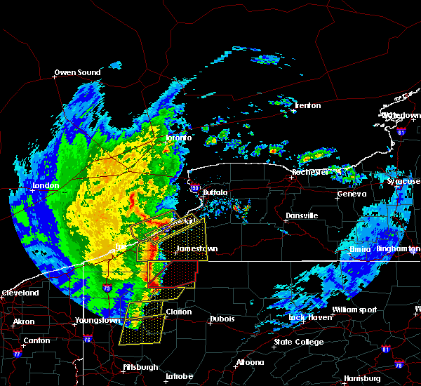 Radar Image for Severe Thunderstorms near Perrysburg, NY at 4/14/2019 8:06 PM EDT