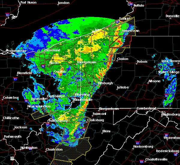 Radar Image for Severe Thunderstorms near Marianne, PA at 4/14/2019 8:25 PM EDT