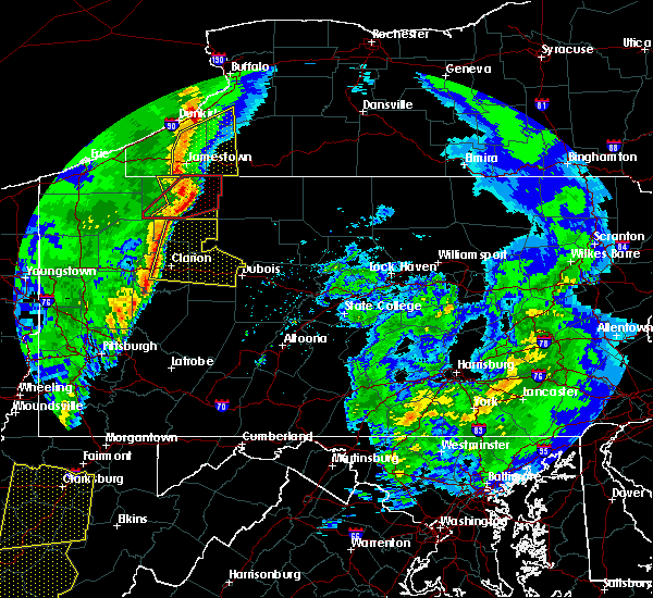 Radar Image for Severe Thunderstorms near Brockway, PA at 4/14/2019 8:34 PM EDT