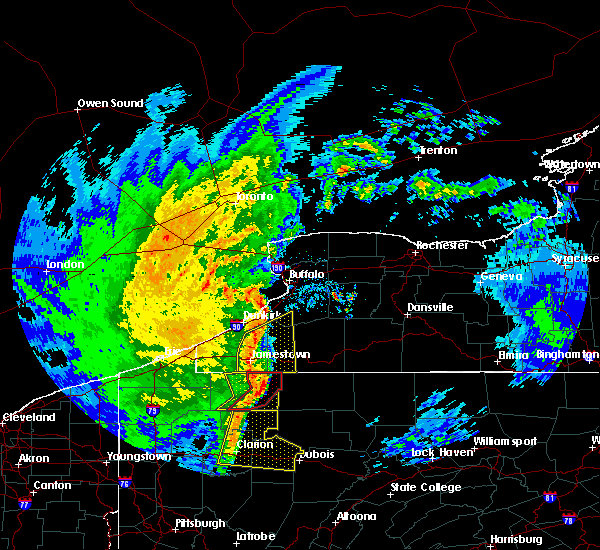 Radar Image for Severe Thunderstorms near Jamestown West, NY at 4/14/2019 8:38 PM EDT