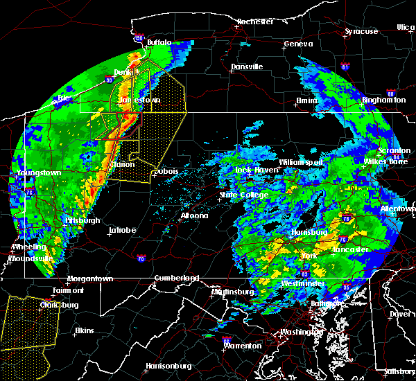 Radar Image for Severe Thunderstorms near Ridgway, PA at 4/14/2019 8:44 PM EDT