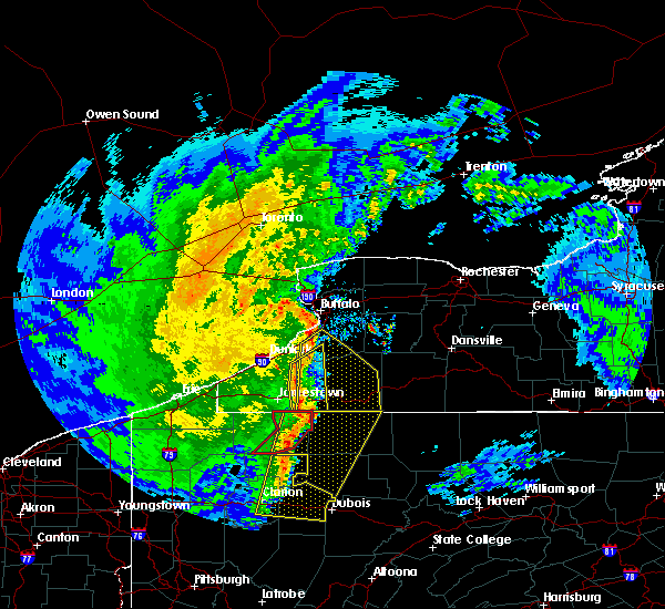Radar Image for Severe Thunderstorms near Salamanca, NY at 4/14/2019 8:47 PM EDT
