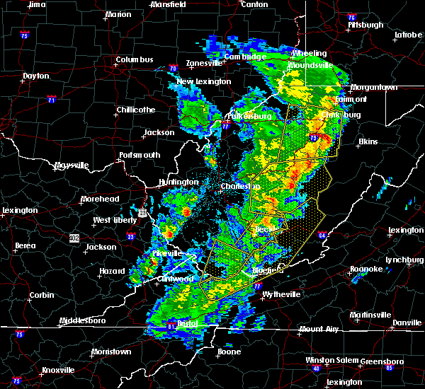 Radar Image for Severe Thunderstorms near Birch River, WV at 4/14/2019 8:50 PM EDT