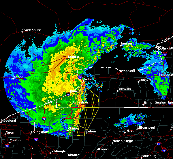 Radar Image for Severe Thunderstorms near Perrysburg, NY at 4/14/2019 8:57 PM EDT