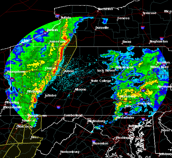 Radar Image for Severe Thunderstorms near James City, PA at 4/14/2019 9:15 PM EDT