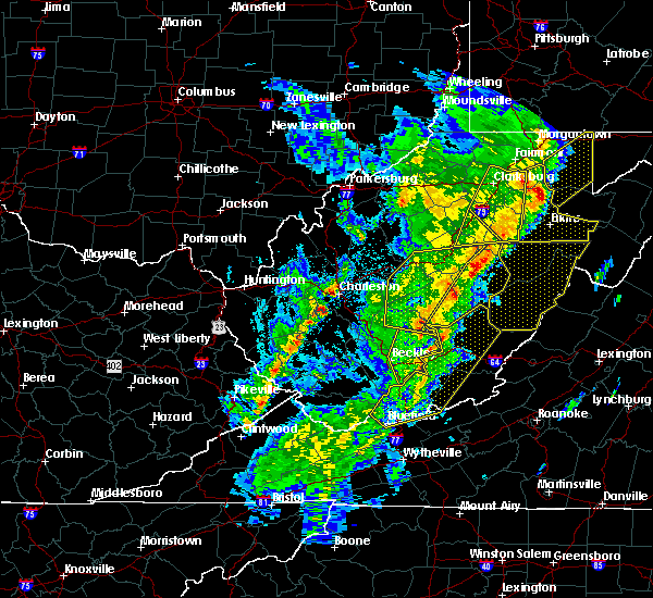 Radar Image for Severe Thunderstorms near Dailey, WV at 4/14/2019 9:15 PM EDT