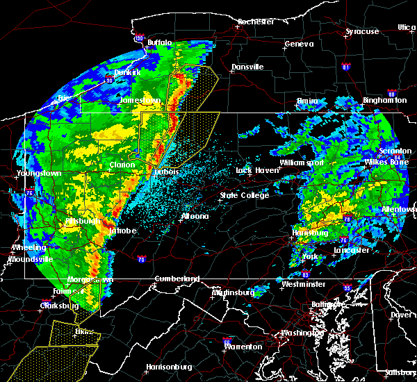 Radar Image for Severe Thunderstorms near Roulette, PA at 4/14/2019 9:37 PM EDT
