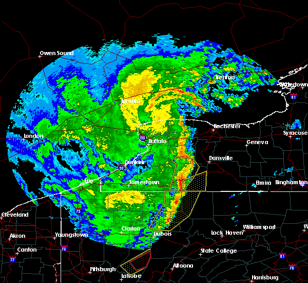 Radar Image for Severe Thunderstorms near Lima, NY at 4/14/2019 10:01 PM EDT