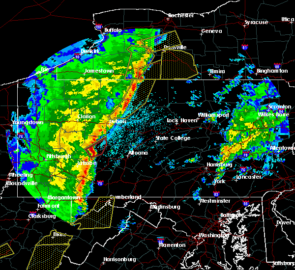 Radar Image for Severe Thunderstorms near Roulette, PA at 4/14/2019 10:04 PM EDT