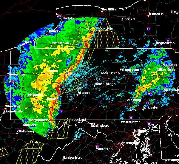 Radar Image for Severe Thunderstorms near Cherry Tree, PA at 4/14/2019 10:08 PM EDT