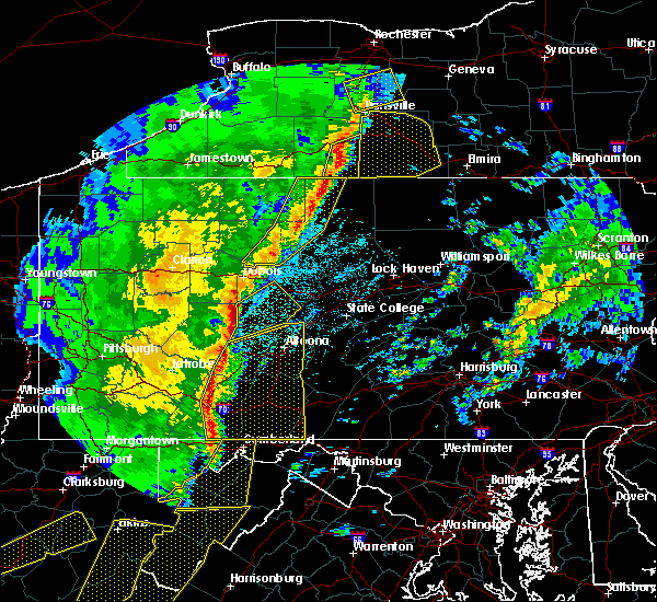 Radar Image for Severe Thunderstorms near Tyrone, PA at 4/14/2019 10:20 PM EDT