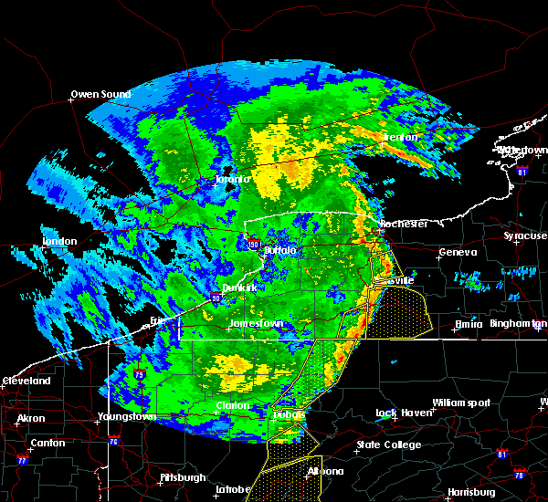 Radar Image for Severe Thunderstorms near Lima, NY at 4/14/2019 10:29 PM EDT