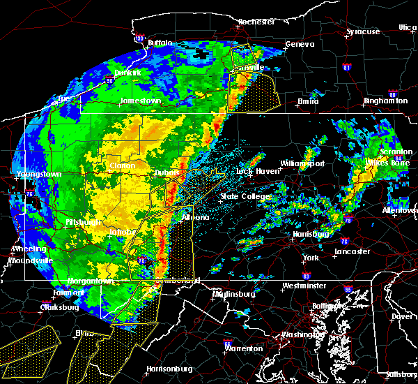 Radar Image for Severe Thunderstorms near Grassflat, PA at 4/14/2019 10:45 PM EDT