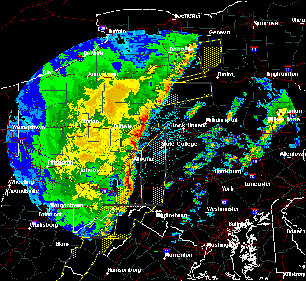 Radar Image for Severe Thunderstorms near Tyrone, PA at 4/14/2019 11:01 PM EDT