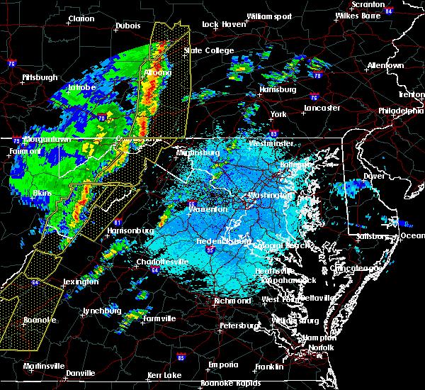 Radar Image for Severe Thunderstorms near Basye, VA at 4/14/2019 11:11 PM EDT