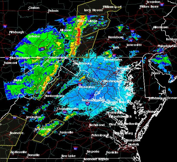 Radar Image for Severe Thunderstorms near Basye, VA at 4/14/2019 11:51 PM EDT