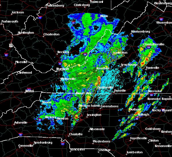 Radar Image for Severe Thunderstorms near East Lexington, VA at 4/15/2019 12:40 AM EDT