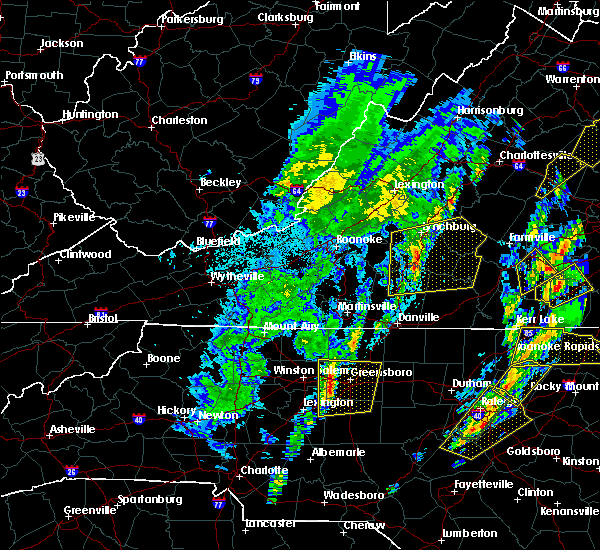 Radar Image for Severe Thunderstorms near High Point, NC at 4/15/2019 1:26 AM EDT