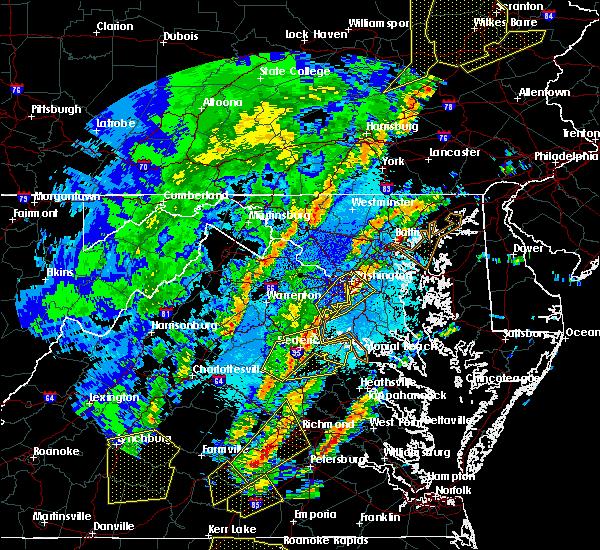 Radar Image for Severe Thunderstorms near Port Royal, VA at 4/15/2019 1:33 AM EDT