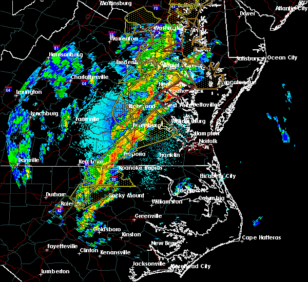 Radar Image for Severe Thunderstorms near Sussex, VA at 4/15/2019 2:15 AM EDT