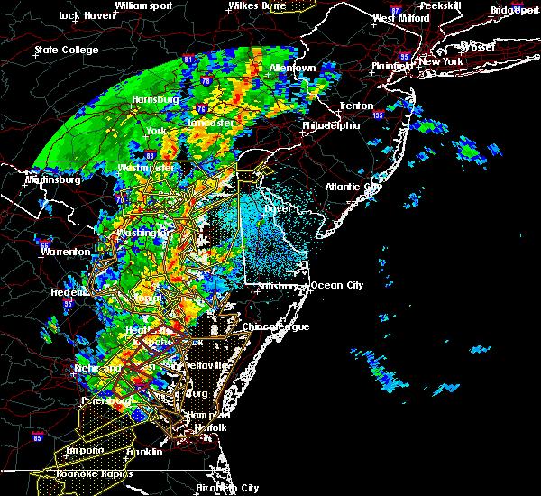 Radar Image for Severe Thunderstorms near Lexington Park, MD at 4/15/2019 2:43 AM EDT