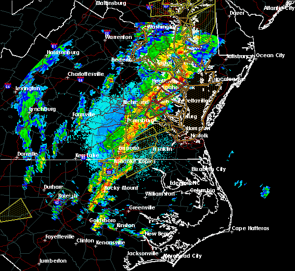 Radar Image for Severe Thunderstorms near Halifax, NC at 4/15/2019 2:43 AM EDT