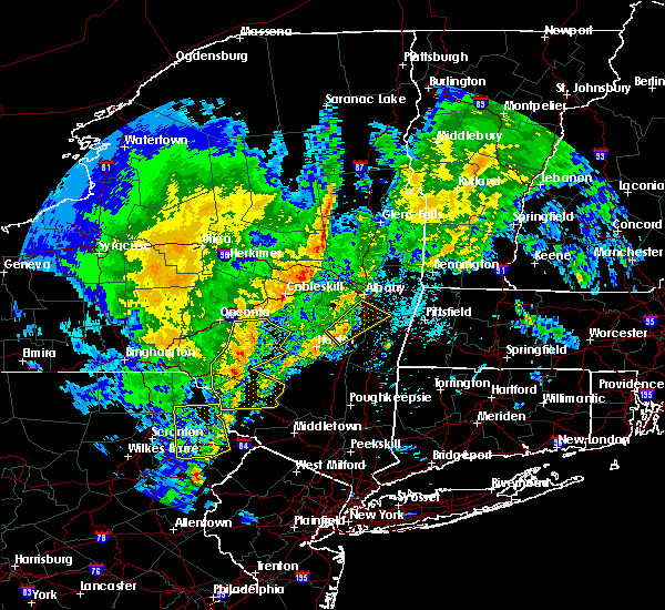 Radar Image for Severe Thunderstorms near Ravena, NY at 4/15/2019 2:43 AM EDT
