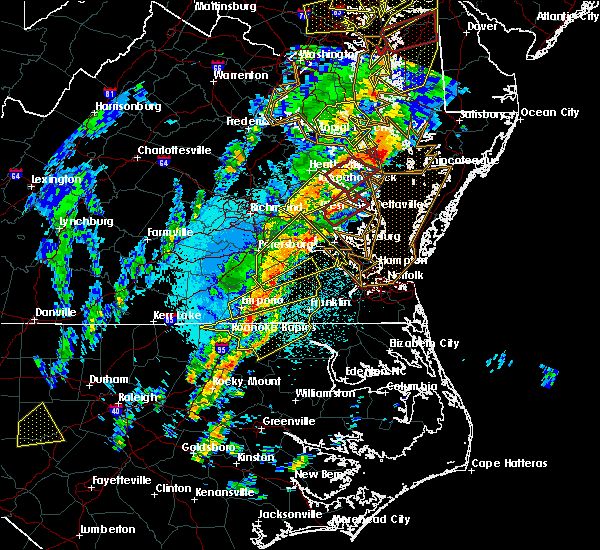 Radar Image for Severe Thunderstorms near West Point, VA at 4/15/2019 2:47 AM EDT