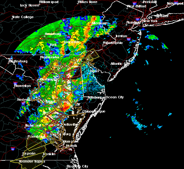 Radar Image for Severe Thunderstorms near Bear, DE at 4/15/2019 2:53 AM EDT