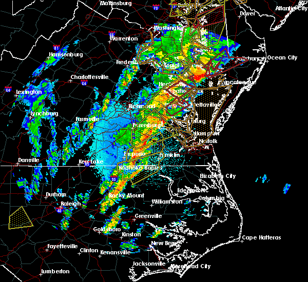 Radar Image for Severe Thunderstorms near Sussex, VA at 4/15/2019 2:53 AM EDT