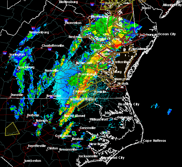 Radar Image for Severe Thunderstorms near West Point, VA at 4/15/2019 2:56 AM EDT