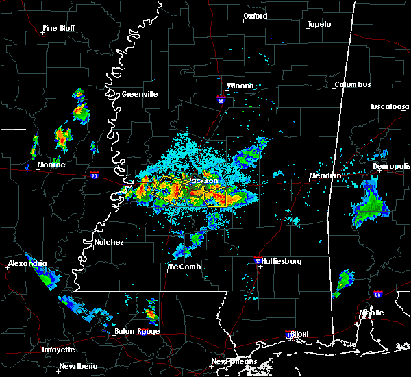 Radar Image for Severe Thunderstorms near Brandon, MS at 6/10/2015 8:50 PM CDT