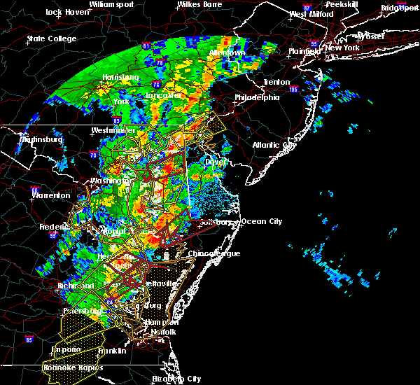 Radar Image for Severe Thunderstorms near Kingstown, MD at 4/15/2019 3:02 AM EDT