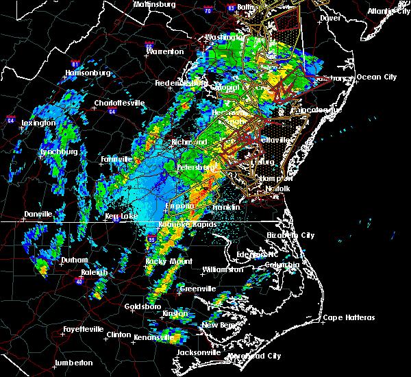 Radar Image for Severe Thunderstorms near Williamsburg, VA at 4/15/2019 3:05 AM EDT