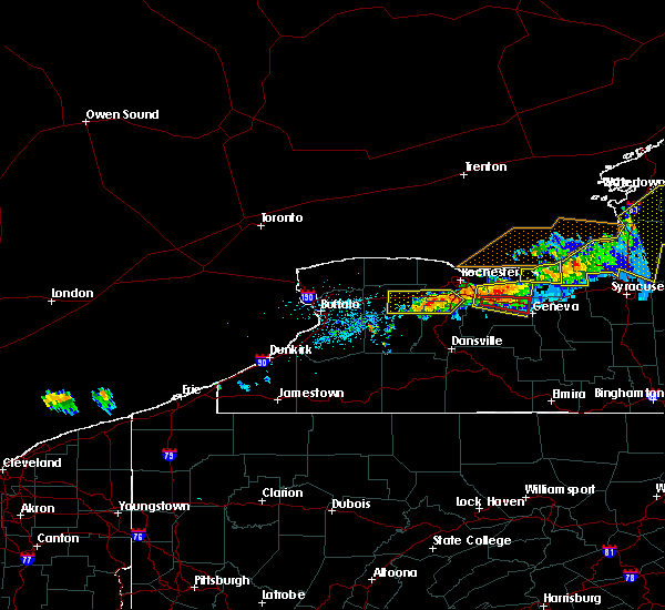 Radar Image for Severe Thunderstorms near Clifton Springs, NY at 6/10/2015 9:50 PM EDT