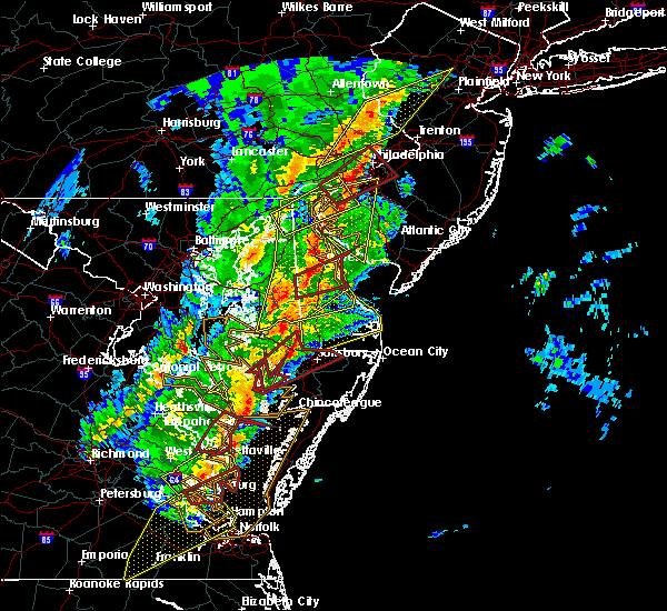 Radar Image for Severe Thunderstorms near Delmar, MD at 4/15/2019 3:33 AM EDT