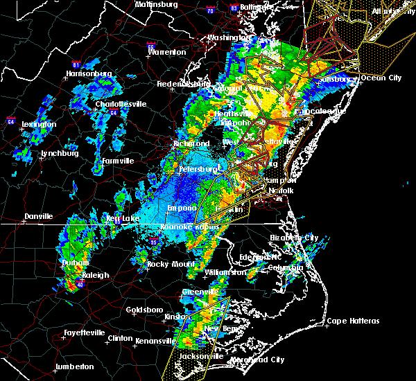 Radar Image for Severe Thunderstorms near Yorktown, VA at 4/15/2019 3:45 AM EDT