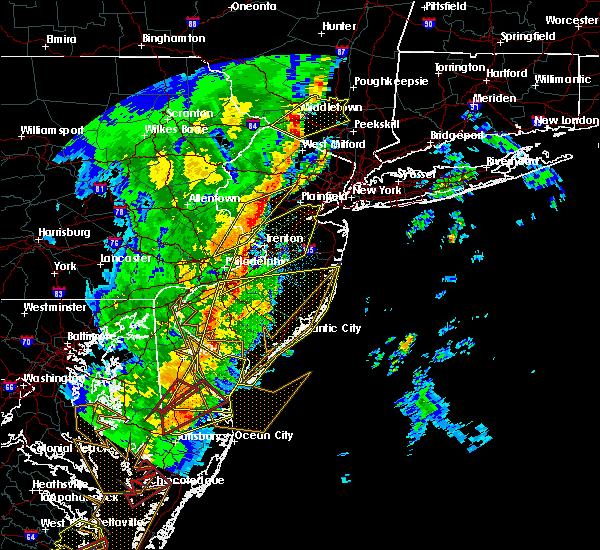 Radar Image for Severe Thunderstorms near Flemington, NJ at 4/15/2019 3:49 AM EDT