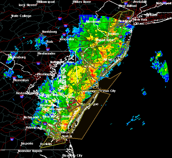 Radar Image for Severe Thunderstorms near Delmar, MD at 4/15/2019 4:10 AM EDT