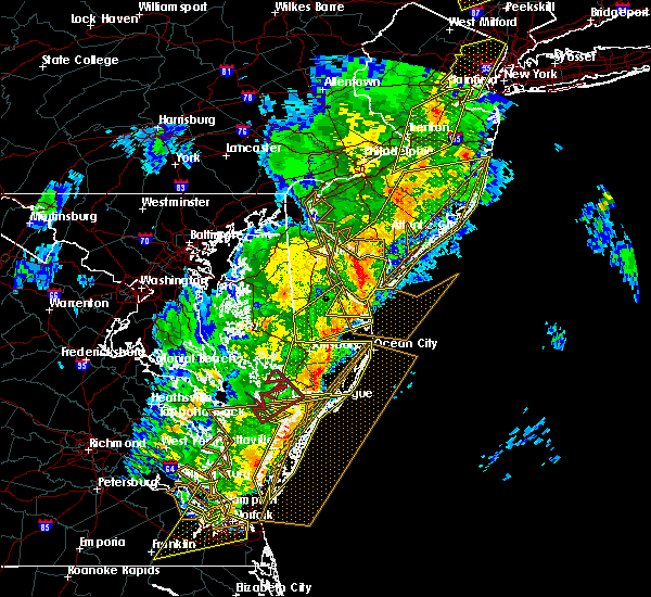 Radar Image for Severe Thunderstorms near Chincoteague, VA at 4/15/2019 4:16 AM EDT