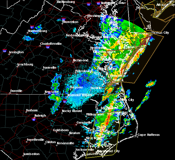 Radar Image for Severe Thunderstorms near Portsmouth, VA at 4/15/2019 4:35 AM EDT