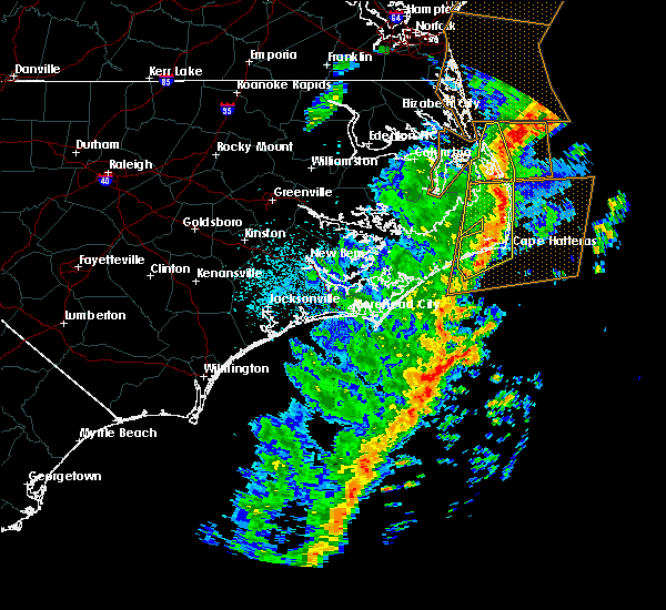 Radar Image for Severe Thunderstorms near Kitty Hawk, NC at 4/15/2019 5:45 AM EDT