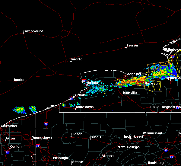 Radar Image for Severe Thunderstorms near Clifton Springs, NY at 6/10/2015 10:03 PM EDT