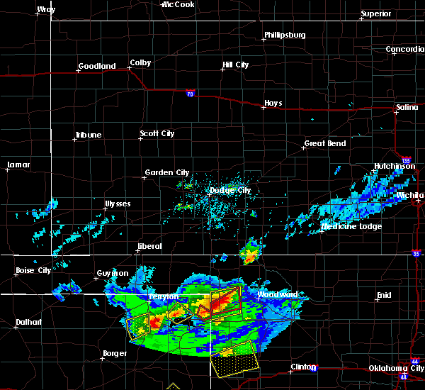 Radar Image for Severe Thunderstorms near Fargo, OK at 4/17/2019 4:59 PM CDT