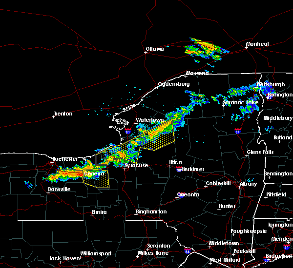 Radar Image for Severe Thunderstorms near Meridian, NY at 6/10/2015 10:18 PM EDT